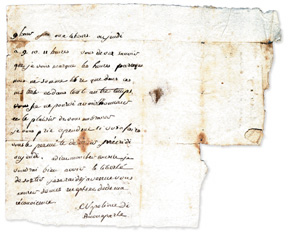 Letter written by Napol�on Bonaparte at age 14