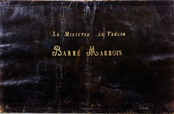 Minister of Treasury Barb� Marbois Portfolio, which