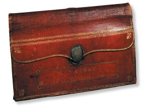 Leather portfolio used by Paul Barras at the National Convention, 1792-95