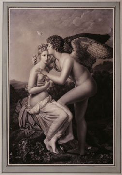 "Preparatory drawing for ""Psyche and Cupid"""