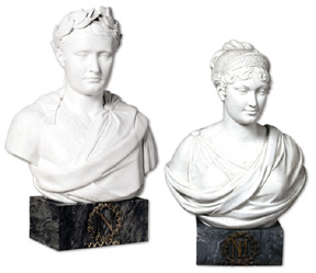Busts of Empress Marie-Louise and Napoléon I